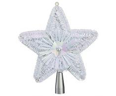Feerie Christmas Cimier pour Sapin de Noël - H. 23 cm - Blanc