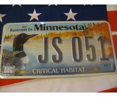 Plaque immatriculation américaine Reinvest in Minnesota