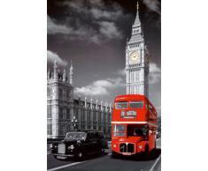 1art1 48946 Poster Londres Big Ben Bus Rouge 91 x 61 cm