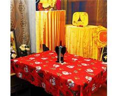 niceEshop(TM) Nappe de Table avec Impression Magnifique pour Noël (Rouge, Impression Clochette de Noël)