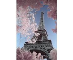 "David Oscillateur ""Tour Eiffel infrarouge"" Maxi poster, bois, Multicolore"