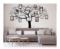 bdecoll PVC riesig Noir cadre photo sticker mural mémoire Arbre Branche vinyle amovible Stickers Muraux