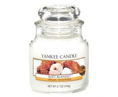 Yankee Candle bougie petite jarre, « Couverture douce »