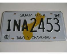 Plaque immatriculation américaine Guam USA