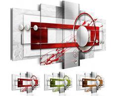 B&D XXL murando Impression sur Toile intissee 200x100 cm cm 5 Parties Tableau Tableaux Decoration Murale Photo Image Artistique Photographie Graphique Abstrait a-A-0140-b-n