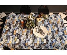 GRJH® Plaque d'immatriculation américaine modèle personnalisé plaque d'immatriculation motif papier peint rétro impression toile toile de table tissu imperméable (taille : 90*140cm)