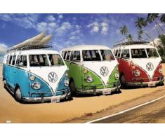 1art1 52985 Poster Voitures Bus VW Californie Plage 91 x 61 cm