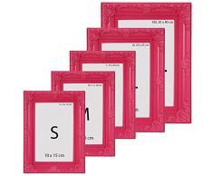 Cadre photo - rose - style baroque - 13X18cm - disponible en taille S, M, L, XL ou XXL