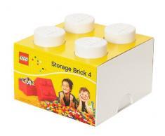Room Copenhagen RC40031735 Lego Boîte de Rangement 4 Briques Plastique Blanc 18 x 25 x 25 cm