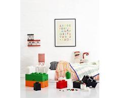 Brique de rangement LEGO 1 plot ronde, Boîte de rangement empilable, 950 ml, blanc