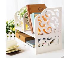 DIY étagère de bureau en bois Stockage Organiseur Petite Objests Cosmetics écran Bibliothèque