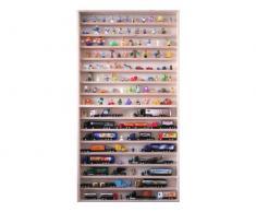 V57- Vitrine murale 60 cm x 115 cm x 6 cm collection miniature moto collecteur dé à coudre tableau d'affichage train pion petit objet jouet enfant mini nain de jardin schtroumpf vitres en plexiglas clair meuble rangement étagère