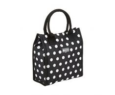Kitchen Craft - Sac isotherme pois noir 4L