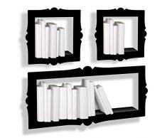 PRESSE CITRON - Petite étagère mural déco noire presse citron barok S acier laqué mat