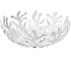 Alessi Mediterraneo ESI01/29 W - Bol à Fruits Design en Acier Inoxydable et Résine Époxy, Blanc