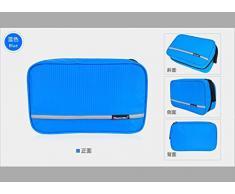CYBERNOVA multifonction Trousse de Toilette Sac cosmétique Voyage cosmétique capacité Suspendre Sac Rangement compact Trousse de Voyage / soins personnels bourse Hygiène (bleu)