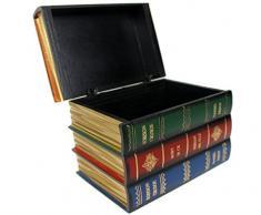 Livre factice Gestionnaire Boîte en bois Boîte de rangement Boîte Boîte à bijoux en bois, S