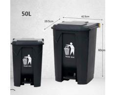 TYYM trash can 100L Poubelle Extérieure à Pédale, Grande Cuisine Grand Public Et Hôtel Commercial avec Grande Conteneur Poubelle B-50L