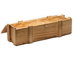 Weinkiste 1/2/3/6 ou 12 en bois flammé avec paille// cadeau boîte de rangement/überraschungskiste/weinbox/hochzeitskisten presentkiste weinbox cagette à pommes, Bois, 1er Weinbox