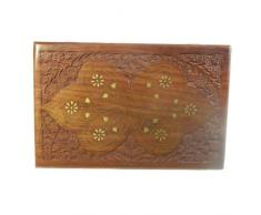 Coffret à bijoux BUTTERFLY Incrustations en laiton Cassette en bois 30x20x8cm boîte de rangement Décoration maison Fabrication artisanale