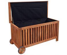 vidaXL Coffre malle de rangement stockage pour jardin terrasse 118x52x58 cm Bois