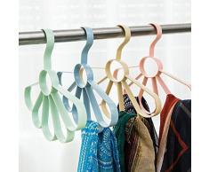 CAOLATOR Hanger Porte-écharpe Circulaire Cintre Polyvalent Cintre écharpe en Plastique Porte-Cravate Passants Multi Cravate Cintre Circulaire Armoire Organiseur de l'espace Ceinture Écharpe
