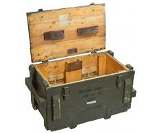 Boîte à munitions tm62 Caisse de rangement env. 74 x 39 x 41 cm (Grand) Boîte Box en bois boîte des Munitions Militaire vin Boîte Pomme Shabby Vintage