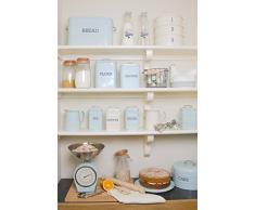 Kitchen Craft Living Nostalgia Boîte à pain en métal Bleu