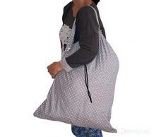 Dazoriginal Grand Sacs de blanchisserie - Sac buanderie 100% coton - sac à laver de blanchisserie - Tissu Sac à linge, panier à linge réutilisable - Sac de Lavage - Panier à Linge - Panier à linge sale en tissu - Cordon en