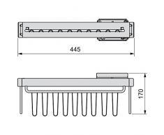 EMUCA 7086613 Cravates/Porte-Ceintures latérale extractible avec Fermeture amortie pour Armoire, Finition Peint Moka
