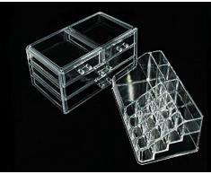 En acrylique pour maquillage/cosmétiques/bijoux Organisateur Présentoir pour vernis à ongles de qualité supérieure 3 mm acrylique). Livré dans un coffret cadeau.