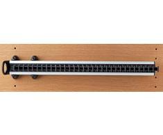 Servetto - Porte-cravate coulissant noir - Finition.Noir - Prof. mm.500 - Larg. mm.76 -