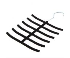 TOOGOO(R) Porte-cravates de flocage Noir