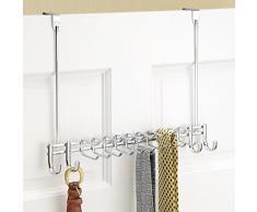 InterDesign 02221EU Axis Rack Vertical Cravate/Ceinture sur la Porte Chrome