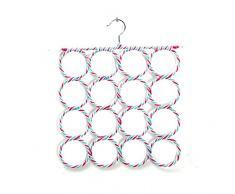 Cintre outil Porte-cravates Porte-écharpes avec 16 Trous pour Serviette Foulard Couleur Aléatoire