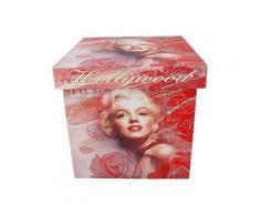 Boite de rangement en bois déco Marilyn Monroe