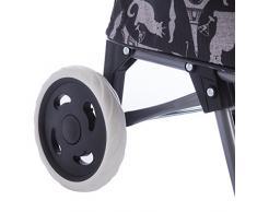 Chariot de course, poussette de marché noir à motifs variés gris
