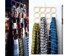 Demarkt 28 Hole Scarf Holder Organiseur de Garde-Robe Cintre Porte-Cravates Storage Organizer Hanger pour Écharpe Cravate
