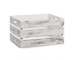 Zeller 15132/Boîte de rangement en bois vintage blanc 39 x 29 x 21 cm