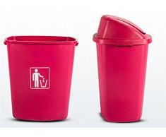 Poubelles 30L en plastique Shaking type large Poubelle Bureau Cuisine extérieure Ménage Poubelle , red