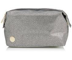 Mi-Pac Gold Wash Trousse à maquillage Pebbled Silver/Black