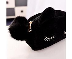Demarkt 1 Pcs Cosmetiques Bag Chat Mignon Pochette Sac Cosmétique Trousse à Stylo Cas de Maquillage Beaute Trousses de Toilette De Voyage Bag Accessoires de Voyage