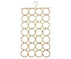 Zedtom Organiseur de garde-robe Cintre Porte-cravates Porte-écharpes avec 28 Trous pour Serviette Foulard Ceinture Echarpe Cravate
