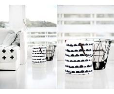 Pliable et Étanche Coton Panier à linge Sale Jouet Sac de Rangement 50 x 40 cm (Modèle Demi-cercle)