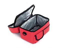Sac Fraicheur Isotherme Banquise Impermeable Refrigere Pour Voyage/Camping/Repas/Déjeuner/Picnic/Sport/Ecole/Travail-Rouge