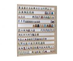 V75 - Vitrine murale 41 cm x 52 cm x 5 cm collection miniature collecteur dé à coudre tableau d'affichage train pion petit objet jouet enfant mini nain de jardin schtroumpf vitres en plexiglas clair meuble rangement étagère