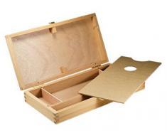 Boîte de rangement en bois (vide): Bois hêtre 32 x 17 x 4 cm