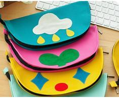 Cosanter 1 X Mignon école Trousse Créatif Mouse Pad Multifonctions Cosmétique Sacs en Cuir-Rose Rouge