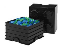 Brique de rangement LEGO 8 plots, Boîte de rangement empilable, 12 l, bleu