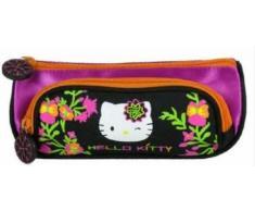 Hello Kitty - Trousse Double Compartiment (Trousse Ecole ou Trousse Cosmétique)